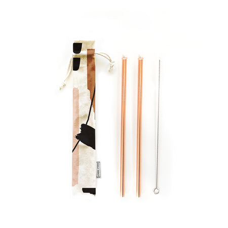 Reusable Straws 4 piece Set - Hold On