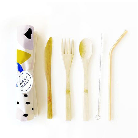 Eco Friendly 6 pc Reusable Cutlery Set - Blossom