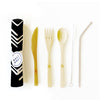 Eco Friendly 6 pc Reusable Cutlery Set - Sunbeams Midnight