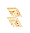 4pc Set of Triangle Wooden Coasters