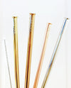Reusable Straws 4 piece Set - Small Terrazzo