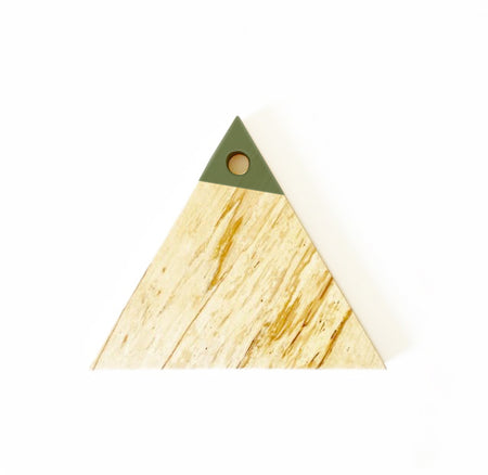 Paint Dipped Triangle Charcuterie Board