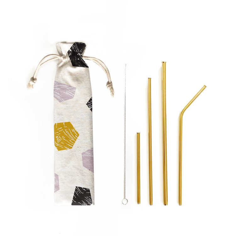 Reusable Mixed Straws 6 piece Set - Stop & Stare