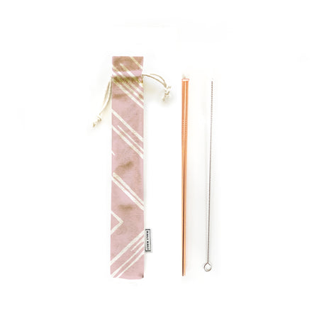 Reusable Straws 3 piece Set - Sunbeams Blush