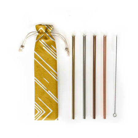 Reusable Straws 6 piece Set - Sunbeams