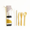 Eco Friendly 6 pc Reusable Cutlery Pouch - Sunset