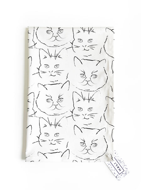 NEW! Kitty Tea Towel -  PRE-ORDER shipping May 1st