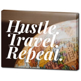 Hustle. Travel. Repeat.