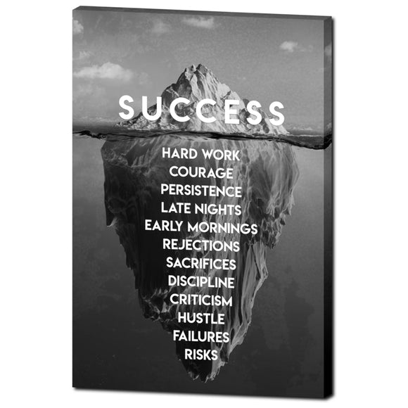 The Iceberg of Success (Black and White Edition)