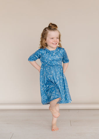 Sky Blooms Twirl Dress