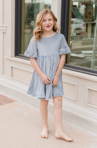 Blue Willow Twirl Dress