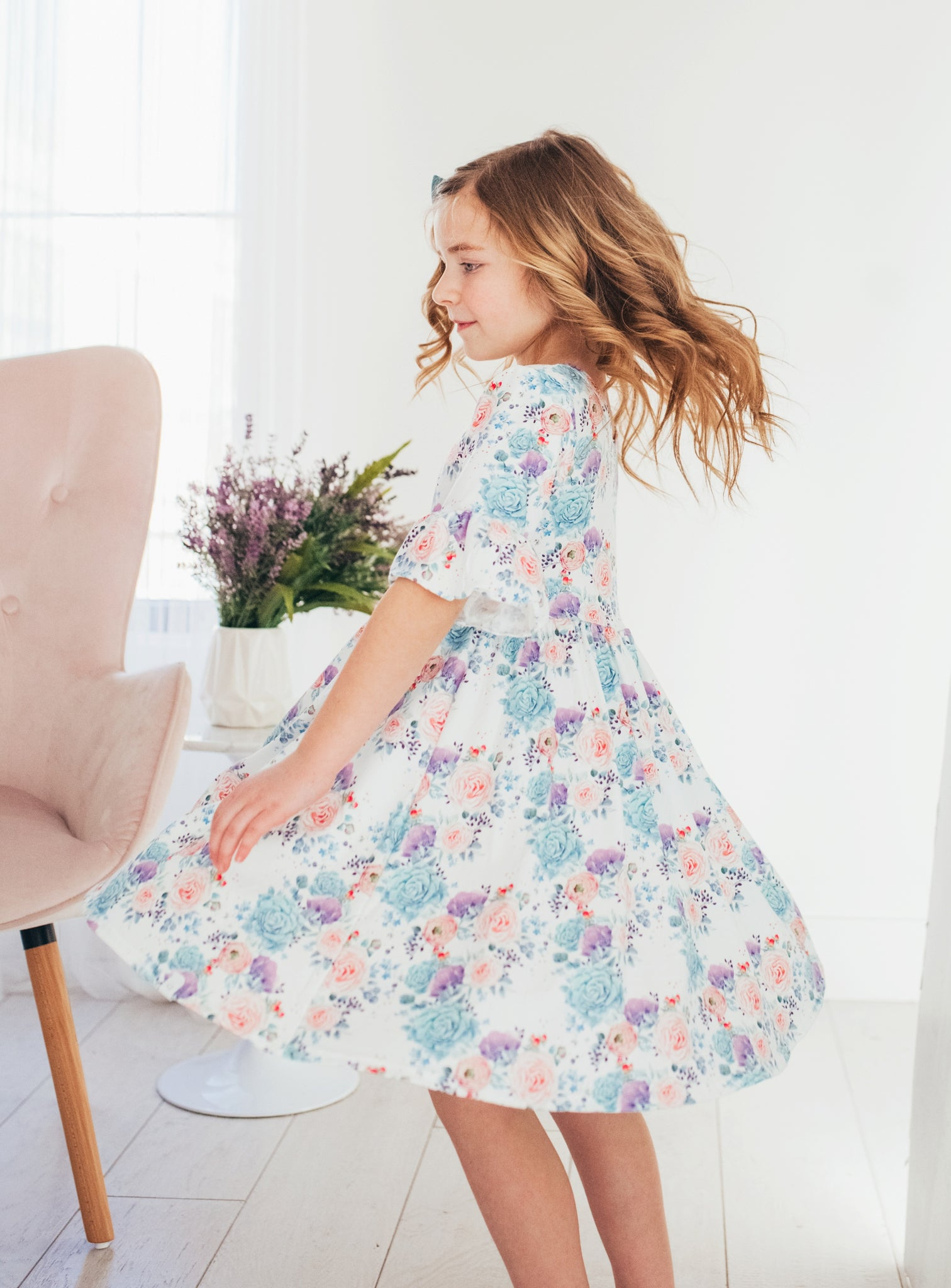 Spring Flowers Twirl Dress