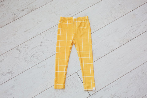 Mustard Yellow Plaid Leggings
