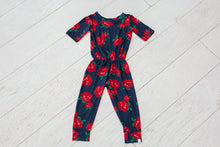 Navy and Rose Romper