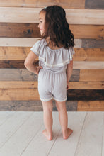 Tropical Gray Summer Romper