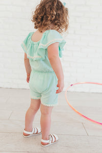 Pastel Green Summer Romper
