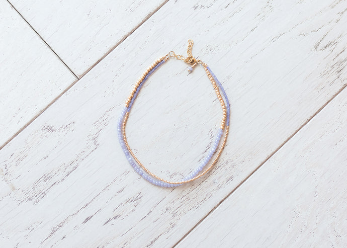 Perfect Purple and Gold Necklace
