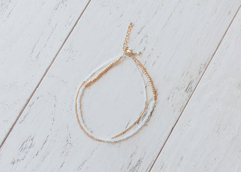 Everyday White and Gold Necklace