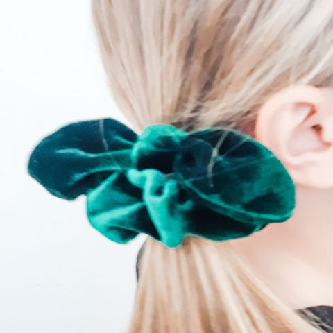 Emerald Green Bow Scrunchie