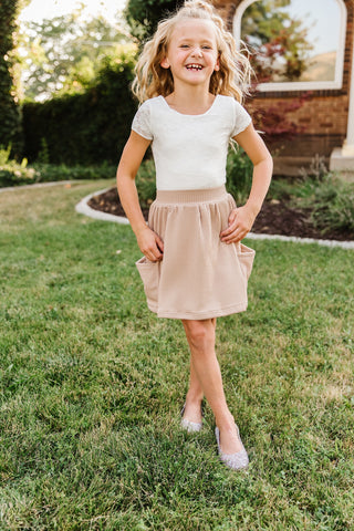 Oatmeal Pocket Skirt