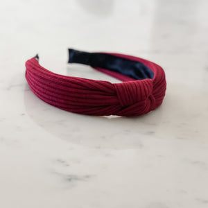 Burgundy Knotted Headband