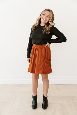 Pumpkin Spice Pocket Skirt