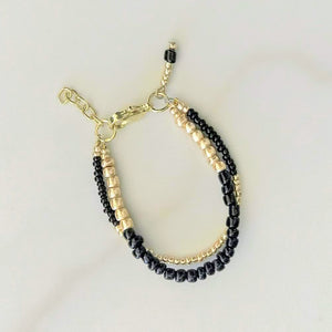Onyx stackable bracelet