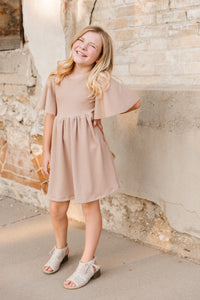 Oatmeal Twirl Dress