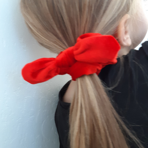 Red Bow Scrunchie