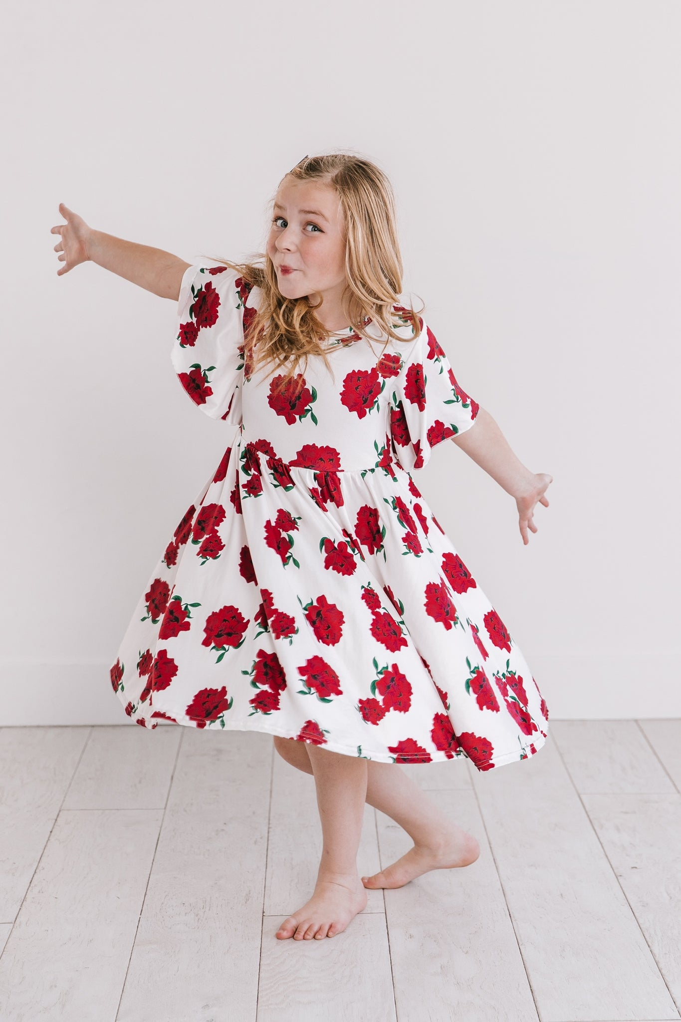Poppy Flutter Sleeve Dress
