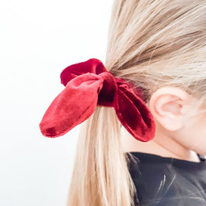 Burgundy Bow Scrunchie