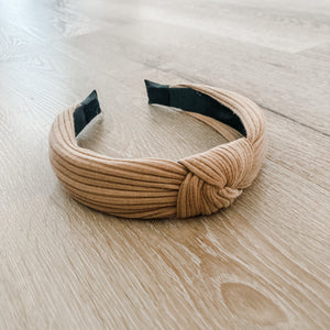 Tan Knotted Headband