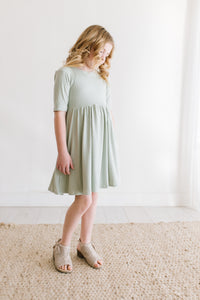 Sage Green Twirl Dress
