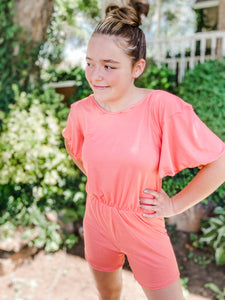 Strawberry Lemonade Flutter Romper