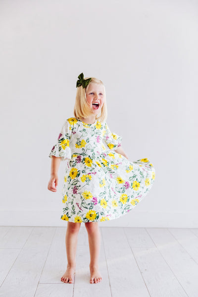 Sunflower Twirl Dress