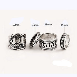 Vintage Elephant Totem Rings Set