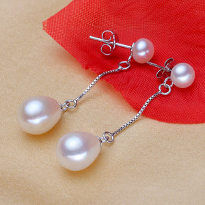 Natural Long Pearl Earrings