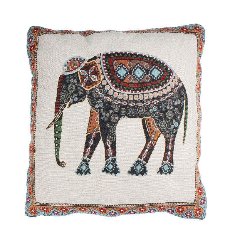 Elephant Tapestry Pillow Cover