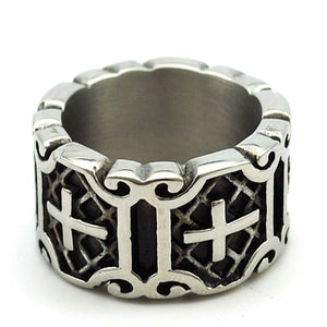 Retro Christian ring stainless steel