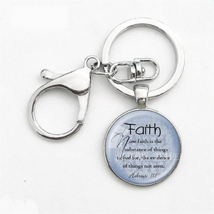 key ring with bible verse