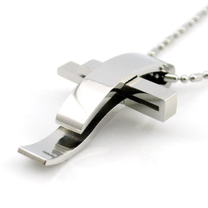Cross stainless steel necklace