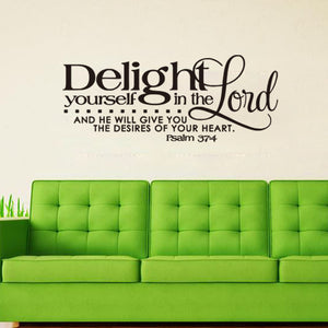 Bible sticker psalm 37.4