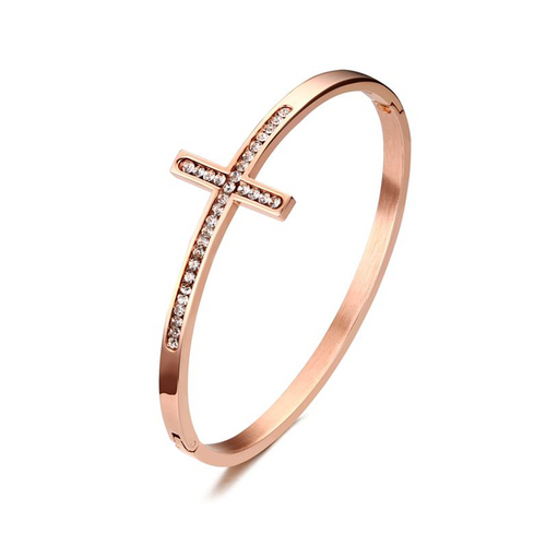 Bangles Rose Gold-color Cross
