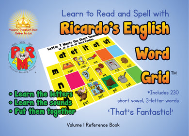 Learn to Read and Spell with Ricardo's English Word Grid: Volume 1