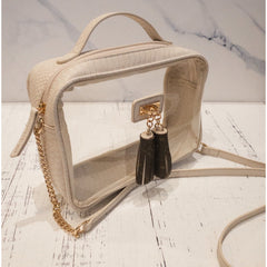 Clear Bag with Tassels