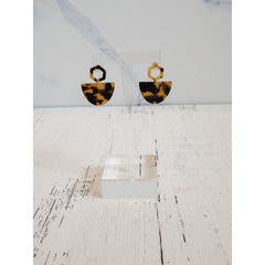 Brown Tortoise Shell Earrings