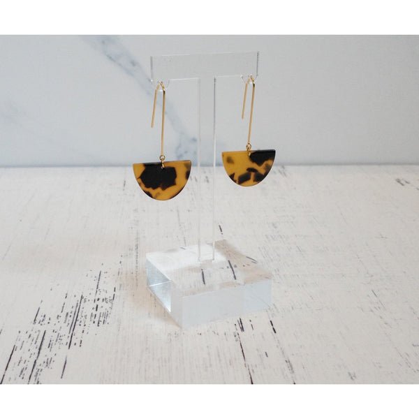 Tortoise Shell Pendant Earrings