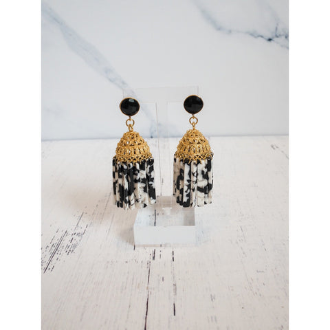 Tortoise Shell Chandelier Earrings