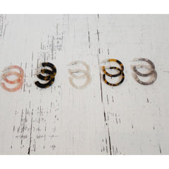 Mini Tortoise Shell Hoop Earrings