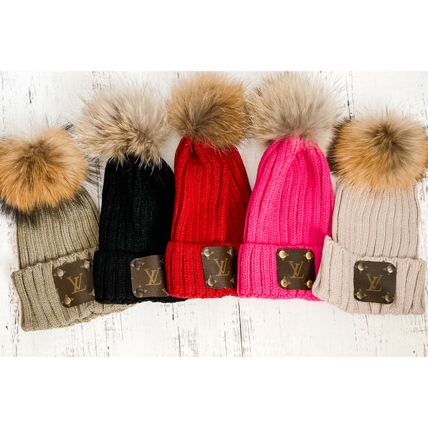 Solid Color Pom Beanies
